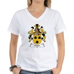 Ferber Family Crest  Women's V-Neck T-Shirt