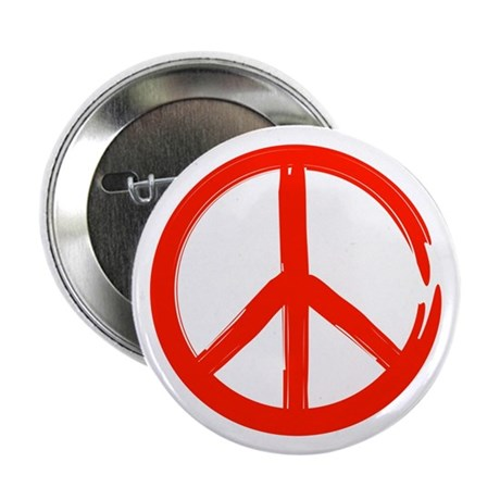 "Red Peace sign 2.25"" Button (100 pack)"