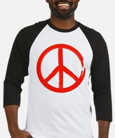 Red Peace sign Baseball Jersey