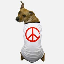 Red Peace sign Dog T-Shirt