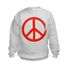 Red Peace sign Sweatshirt