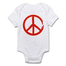 Red Peace sign Infant Bodysuit