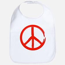 Red Peace sign Bib