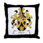 Felner Family Crest Throw Pillow