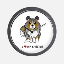 Blue Merle Sheltie Wall Clock