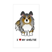 Blue Merle Sheltie Rectangle Decal