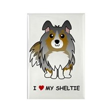 Blue Merle Sheltie Rectangle Magnet