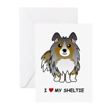 Blue Merle Sheltie Greeting Cards (Pk of 10)