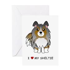 Blue Merle Sheltie Greeting Card