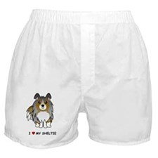 Blue Merle Sheltie Boxer Shorts
