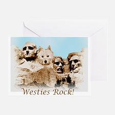 Westies Rock Greeting Card