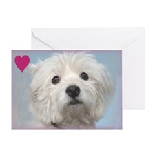 Most Loyal Westie Valentine Greeting Card