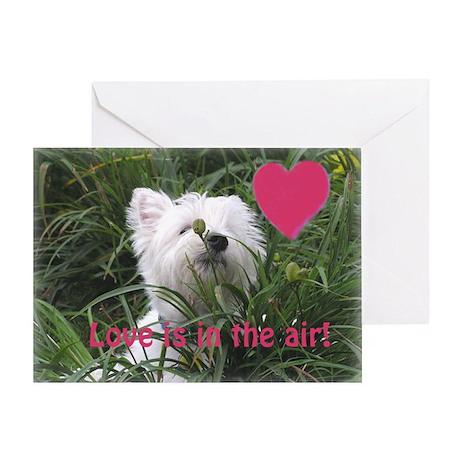 Westie Nature Boy Valentine Greeting Card