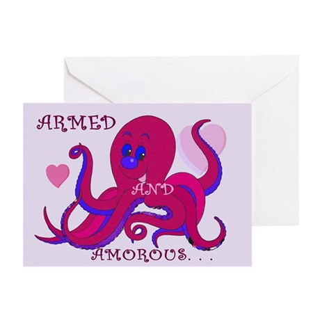 Octopus Tentacled Valentine Greeting Card