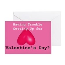 Up 4 Valentine's Day (naughty) Greeting Card