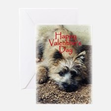 Cairn Terrier Play Bow Valentine Greeting Card