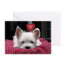 Precious Westie Puppy Valentine Greeting Card