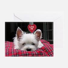 Precious Westie Puppy Valentine Greeting Card