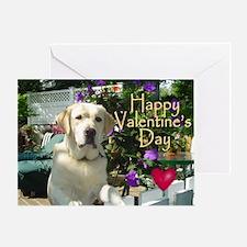 "Yellow ""Lab Partner"" Valentine Greeting Card"
