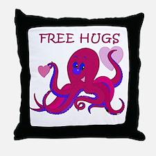 Free Hugs Valentine Octopus Throw Pillow