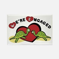 We're Engaged Rectangle Magnet