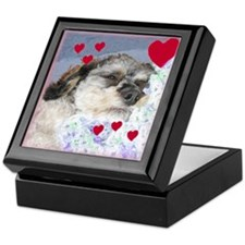 Snuggly Love Pup Valentine Keepsake Box