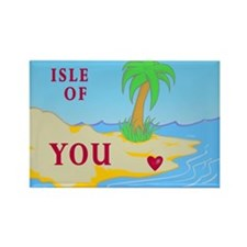 """Isle of You"" (light) Valentine Rectangle Magnet"