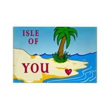 """Isle of You"" Valentine (dark) Rectangle Magnet"