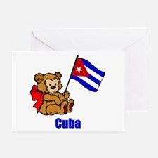 Cuba Teddy Bear Greeting Cards (Pk of 10)