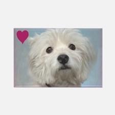 Devoted Westie Valentine Rectangle Magnet