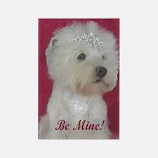 Westie Princess Valentine Rectangle Magnet