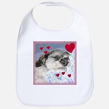 Snuggly Love Pup Valentine Bib