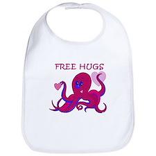 Octopus Hugs Valentine Bib
