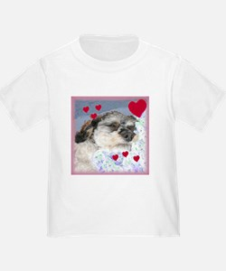 Snuggly Love Pup Valentine T