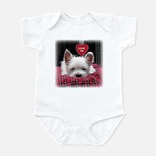 Irresistible Westie Pup Valentine Infant Bodysuit