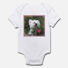 Nature Boy Westie Valentine Infant Bodysuit