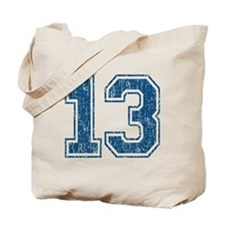 Retro 13 Number Tote Bag