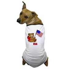 USA Teddy Bear Dog T-Shirt