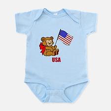 USA Teddy Bear Infant Bodysuit