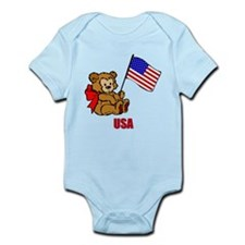 USA Teddy Bear Onesie
