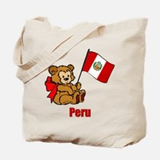 Peru Teddy Bear Tote Bag