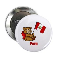 "Peru Teddy Bear 2.25"" Button (10 pack)"