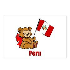 Peru Teddy Bear Postcards (Package of 8)