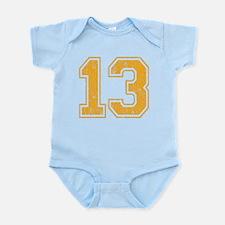 Retro 13 Number Infant Bodysuit