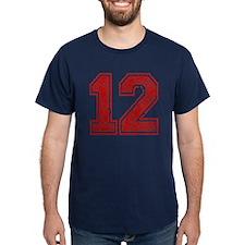 Red Retro 12 T-Shirt