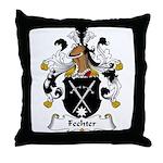 Fechter Family Crest Throw Pillow