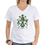 Fecht Family Crest Women's V-Neck T-Shirt