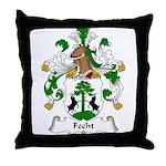 Fecht Family Crest Throw Pillow