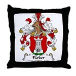 Farber Family Crest Throw Pillow