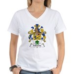 Fabricius Family Crest Women's V-Neck T-Shirt